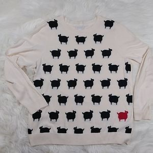 Charter club crew neck sheep sweater Large